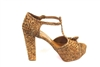 Serpent cork shoes - gold