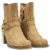 Cork Boots with Gold Lace patern