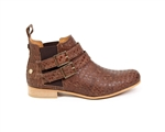 Cork Brown Ankle Boots