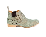 Cork Fishscale Ankle Boots