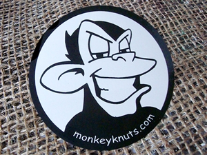 Monkey Knuts Stickers