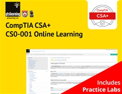 CompTIA CSA+ Cybersecurity Analyst (Exam CS0-001) Online Learning + Online Practice Labs