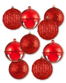 Red with Passion  Assorted Ornament Set
