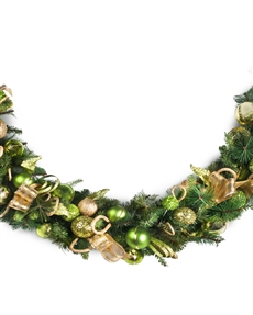 Candy Green Jeweled Holiday Garland