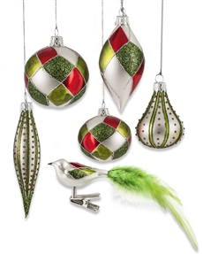 Silverdrop Glass Ornaments