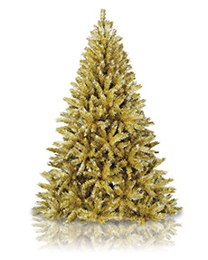 Toasted Champagne Gold Tinsel Tree