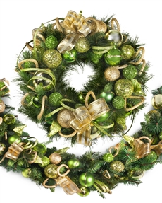 Candy Green Jeweled Holiday Wreath