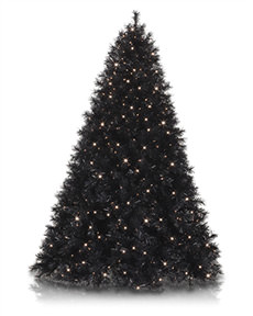 Tuxedo Black Christmas Tree <span>|4'|Full 32"