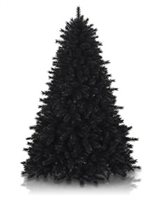 Treetopia - Pitch Black Artificial Christmas Pine Tree #BlackChristmas
