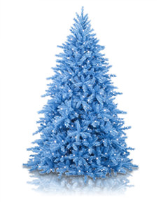 Treetopia - Smurftastic Blue Artificial Christmas Tree