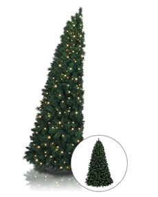 Treetopia - Artificial Corner Christmas Tree Quarter Christmas Trees #ChristmasTree