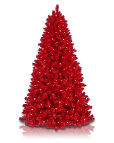 Lipstick Red Artificial Christmas Tree