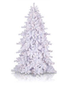 Moonlight White Tinsel Christmas Tree