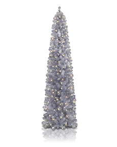 Shimmering Silver Artificial Christmas Tree