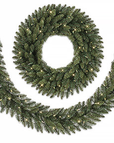 Balsam Spruce Artificial Wreath and Garland