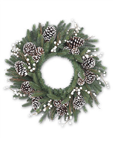 Winter Harvest Decorated Christmas Wreath