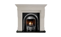 "Binnian 54"" Ivory Micromarble, Mantel Only"