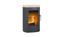SCANLINE 7C (WALL HANGING) TOP PLATE IN SANDSTONE 4KW, Phillips Heating, Northern Ireland, Stoves, Fireplaces