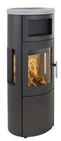 SCANLINE 820 WITH SIDE WINDOWS, BAKING OVEN AND TOP IN SOAPSTONE 5.5KW