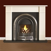 "Brompton 54"" Mocha Beige Micromarble, Mantel Only"