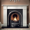 "Brompton 54"" Ivory Micromarble, Mantel Only"