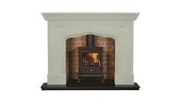 "Carn 54"" Ivory Micromarble, Mantel Only"