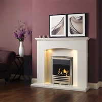 "Cartmel 48"" C/W Lights Full Suite: Polar White (Micromarble)"