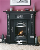 48inch NEW FERN FIREPLACE BLACK