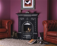36inch TARA FIREPLACE WITH HOOD NO BACK POLISHED