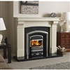 "Commedagh 54"" Mantel Only:Bianco Latte Micromarble"