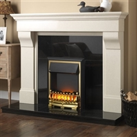 "Donard 54"" Ivory Micromarble, Mantel Only"
