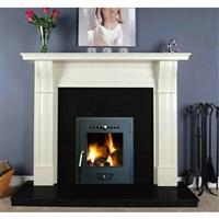 "Dublin Corbel 54"", Ivory Micromarble, Mantel Only"