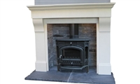 "Gullion Bianco Latte Micromarble 54"", Mantel Only"