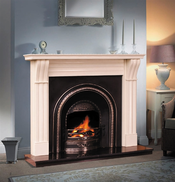 "54"" Dublin Corbel Surround: Ivory Cream"