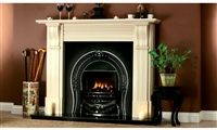 "54"" Dublin Corbel Surround Only in Perla White"