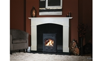 "44"" Hamburg Set Filled (with Granite Back Panel and Hearth): Marfil Stone"