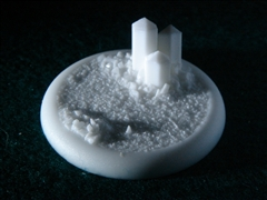 Crystal Field Resin Scenic Miniatures Base 50mm