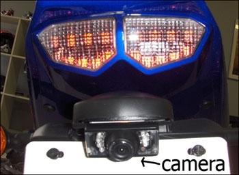 motorcycle rear view back up camera kit. Black Bedroom Furniture Sets. Home Design Ideas