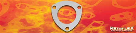 "PN 13-013 -- Buick,  V6, 2-1/4"" Turbo Up-Pipe Gasket, ""HUSLER HEADER"" STYLE, 3.8L Eng. Code ""7"" ('86-'87), 3 Bolt Holes with 3"" Bolt Spacing, 1(ea)"