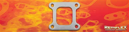 PN 18-011 -- Turbo -MR2 Turbo-to-Exhaust Manifold Gasket, Single Port 70MM x 53MM (Divider Removed), Fits: Toyota Turbo  PN 17201-74070, 1(ea)