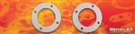 "PN 22-001-- Marine Exhaust Gasket - 3"" ID x 5"" OD With (4) Bolt Holes on a 4-1/8"" Bolt Circle, 2/Set"