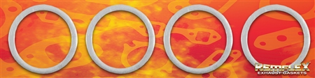 PN 27-001 -- Motorcycle, Universal, Head to Exhaust Pipe Gasket, 1-3/8 ID x 1-3/4 OD Ring, 4/Set