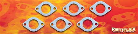 "PN 4006 -- DIESEL REMFLEX® HD CUMMINS ENGINE  Exhaust Manifold Gasket Set 1-3/4 Port Size 2 Bolt Holes 3-1/16"" Spacing Fits: 8.3L & 9L Years 2006-2010 Cummins PN3937479 & Case IH #84368103 6 Piece Set"