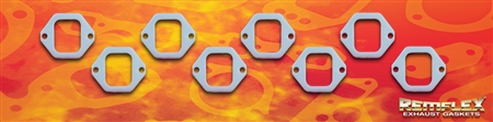 "PN 4007 -- DIESEL REMFLEX® HD CATERPILLAR  ENGINE  Exhaust Manifold Gasket Set  Port Size 2"" Wide X 2-1/2"" Tall  (2) 25/64 Bolt Holes @ 3-1/2"" Spacing  Fits: #3408 ENGINE  8 Piece Set"