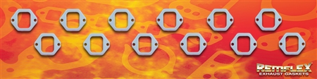 "PN 4008 -- DIESEL REMFLEX® HD CATERPILLAR  ENGINE  Exhaust Manifold Gasket Set  Port Size 2"" Wide X 2-1/2"" Tall  (2) 25/64 Bolt Holes @ 3-1/2"" Spacing  Fits: #3412 ENGINE 12 Piece Set"