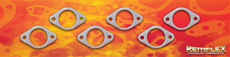 "PN 4009 -- DIESEL - CUMMINS 8.3L Engine, Exhaust Manifold Gasket Set: 2-1/6"" Round Port w/ (2) 7/16"" Bolt Holes @ 3-3/8"" Spacing, Manifold Applications, 6 Piece Set"