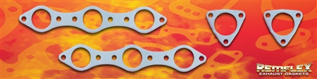 "PN 41-001 --  ASTON MARTIN L6/6 Cylinder Exhaust Manifold/Header Gasket Set Fits: Models ""DB4"", ""DB5"", ""DB6"", & ""DBS6"" 2pcs to Manifold (Part ""A"") & 2pcs to Down Pipe (Part ""B"") 4 Piece Set"