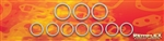 "PN 7013 -Toyota, V6, 3.4L ""5VZFE"" ('95-'04) TRD Header Gasket Set, Part A: 7 Pieces, Part B: 3 Pieces, 10 Pieces Total"