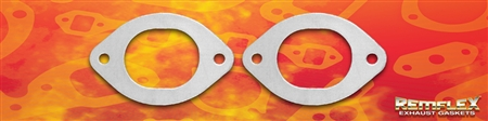 "PN 8025 -- Ford Mustang, 2-3/4"" x 2-3/16"" Oval Pipe Flange, 2-Bolt Holes, 4-5/16"" Bolt Hole Spacing, 2/Set"