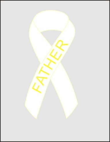 lung cancer awareness ribbon pin white